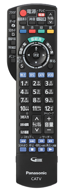 TZ-HDW611PW(楽見録DX)リモコン